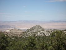 View of Mojave Desert descending from Big Bear Lake. View of mountains and Mojave Desert descending from Big Bear Lake, California near San Bernardino Royalty Free Stock Photos