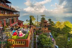 View of the mountains in Nagarkot, Nepal royalty free stock images