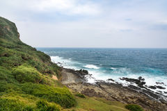 View of mountains and nature on the east coast of Taiwan. Royalty Free Stock Photos