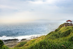 View of mountains and nature on the east coast of Taiwan. Royalty Free Stock Photo