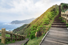 View of mountains and nature on the east coast of Taiwan. Stock Image