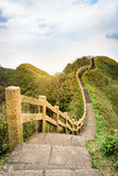 View of mountains and nature on the east coast of Taiwan. Stock Photos