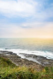View of mountains and nature on the east coast of Taiwan. Royalty Free Stock Photography