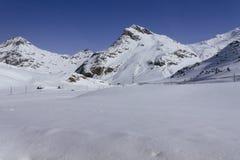 View of Mountains near Bernina Stock Photography