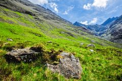 Lush Mountainside Stock Photo