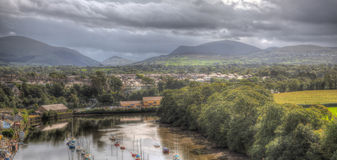 View of mountains in north wales Stock Photography
