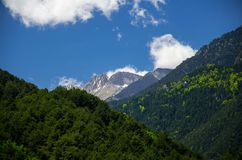 View of mountains Olympus, Pieria, Macedonia, Greece royalty free stock photography