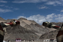 View of mountains from outside Hall of fame, memorial for war heroes, Leh. Stock Images