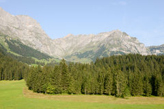 View on the mountains over Engelberg Royalty Free Stock Images