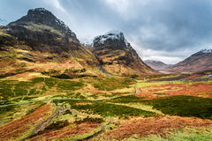 View of the mountains and pass in Glencoe Royalty Free Stock Images