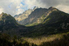 View on the mountains. View of the peaks of the High Tatras stock images