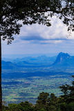 View of mountains from Phu Kradueng , Thailand Royalty Free Stock Images
