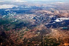 View of the mountains from the plane Royalty Free Stock Photography
