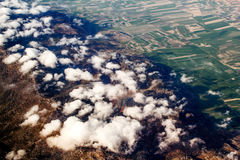 View of the mountains from the plane Royalty Free Stock Photos