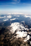 View of the mountains from the plane Stock Images