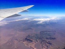 View of mountains from  plane Royalty Free Stock Photo