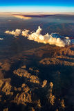View of the mountains from the plane Royalty Free Stock Photo