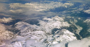 View of the Mountains from the Plane stock footage