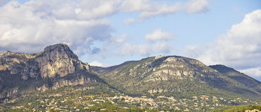 View of the mountains in Provence Royalty Free Stock Photo