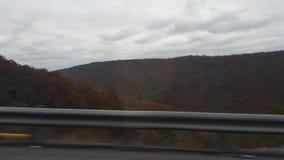Mountains. View of mountains in Punxsutawney Pennsylvania road trip royalty free stock images