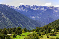 View of the mountains in the Pyrenees Royalty Free Stock Photos