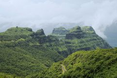 View of mountains and roads in Varandha ghat, Pune. Maharashtra Royalty Free Stock Images