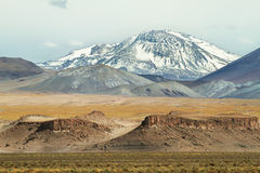 View of mountains and rock formations in Sico Pass royalty free stock image