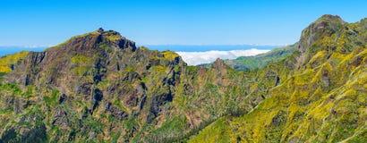 View of mountains on the route Pico Ruivo - Encumeada, Madeira Island, Portugal, Europe. Stock Image