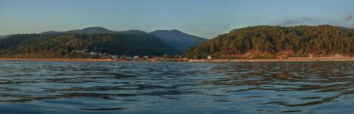 View on the mountains from the sea Stock Images