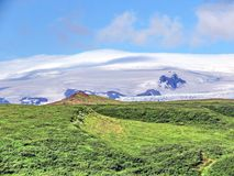 Iceland Skaftafell National Park view of mountains 2017. View of mountains in Skaftafell National Park in Iceland, July 7, 2017 Stock Photos