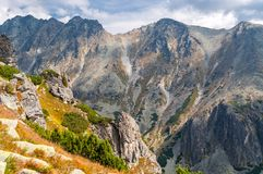 View of mountains from Solisko in High Tatras, Slovakia Stock Photography