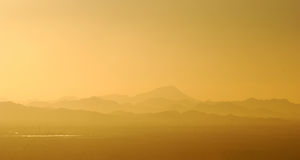 View of mountains surrounding Phoenix, Arizona Royalty Free Stock Image