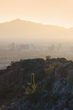 View of mountains surrounding Phoenix at sunset, A Stock Photography