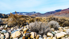View of the Mountains and Thompson River Valley Stock Photos