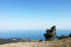 View from the mountains to Black Sea Royalty Free Stock Photography