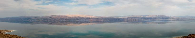 View from the mountains to the dead sea in israel royalty free stock photo