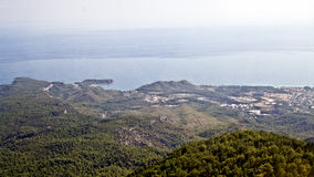 View from the mountains to the Mediterranean Sea Stock Photo