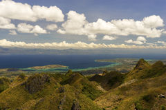 View from mountains to the tropical sea Stock Image