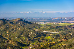View of mountains from Top of the World, in Laguna Beach  Stock Photography
