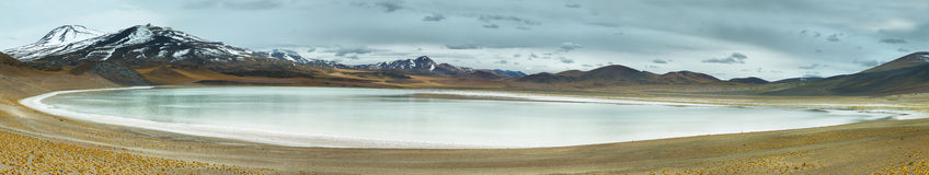 View of mountains and Tuyajto lagoon in Sico Pass Stock Photo