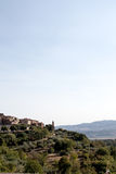 View of the mountains between umbria and tuscany in italy royalty free stock image