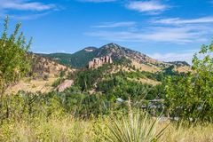 View of the mountains in Boulder Colorado. View of the mountains from the Viewpoint trail in Boulder, Colorado Stock Photography
