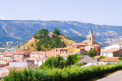 View of mountains village in Aragon. Frias de Albarracin Royalty Free Stock Image