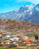 View of  mountains village, Georgia Stock Images