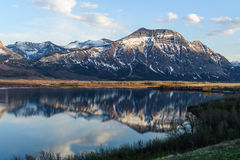 View of the mountains and Waterton lake Royalty Free Stock Photo
