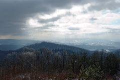 View of the mountains. In winter Royalty Free Stock Photo