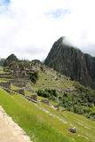 View of Mountainside of Machu Picchu Royalty Free Stock Photos