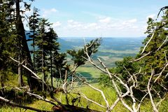 View from mountaintop Royalty Free Stock Images
