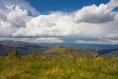 The view from a mountaintop in colorado Stock Images