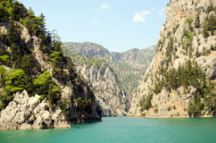 View mounttain Green Canyon in Turkey Stock Image